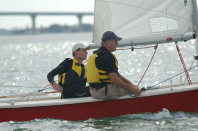 Eric Mann(skipper) Craig Carlson on Red Barron